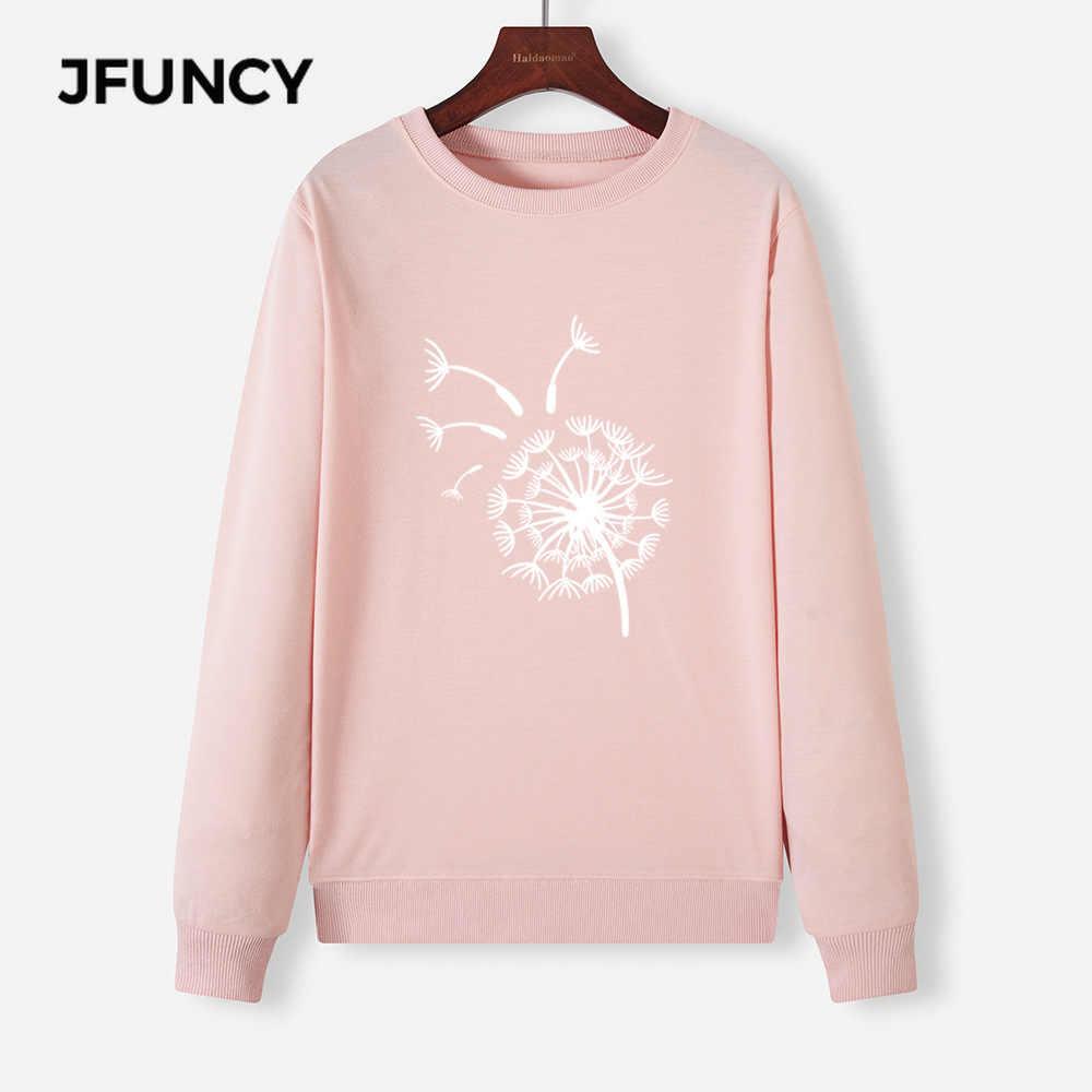 Jfuncy Vrouwen Plus Size Hoodies O-hals Lange Mouw Vrouwelijke Trui Nieuwe Print Vrouw Casual Hoody 2020 Herfst Mujeres Sweatshirt