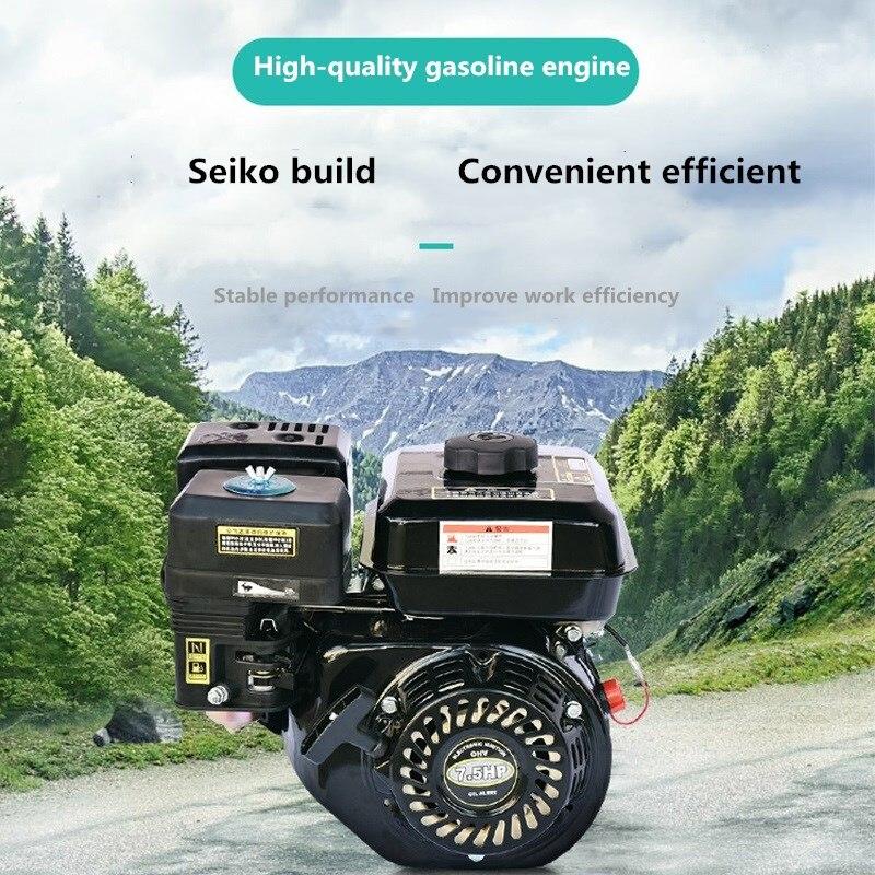 Motor de gasolina de 4 tiempos de arranque por cuerda, 6,5 HP, 168F, 196CC, 0,6l, OHV, refrigerado por aire, cilindro único, para rociador para césped, cortacésped