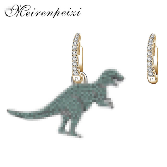 Cute Dinosaur New Fashion Simple Metal Drop Earrings For Women Lovers Ear jewelry Gift Accessories Dangle