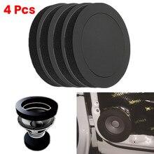 4 pièces 6.5 pouces voiture haut-parleur anneau basse garniture de porte isolation phonique coton Audio haut-parleurs son auto-adhésif isolation anneau