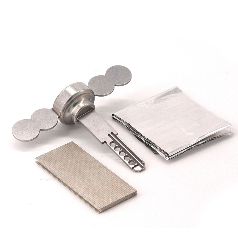 Tinfoil Quick Opening Tool Stainless Steel With 3 Piece Of Tin Paper Used For KALE KILIT Lock And So On Locksmith Tools