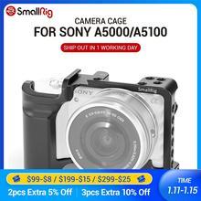Gaiola da câmera smallrig para sony a5000/a5100 com furos da linha da montagem da sapata para o monitor do microfone anexar para vlogging 2226