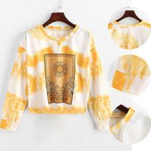 Winter Fashion Women Sweatshirt Long Sleeve Pullover Sweatshirt Ladies Girls Casual Print Pullover Tops Blouse ornate print long sleeve casual sweatshirt
