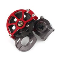 Aluminum Transfer Case Transmission Gearbox for 1/10 Monster Truck RC Car Crawler AXIAL SCX10 RC4WD REDCAT Accessories
