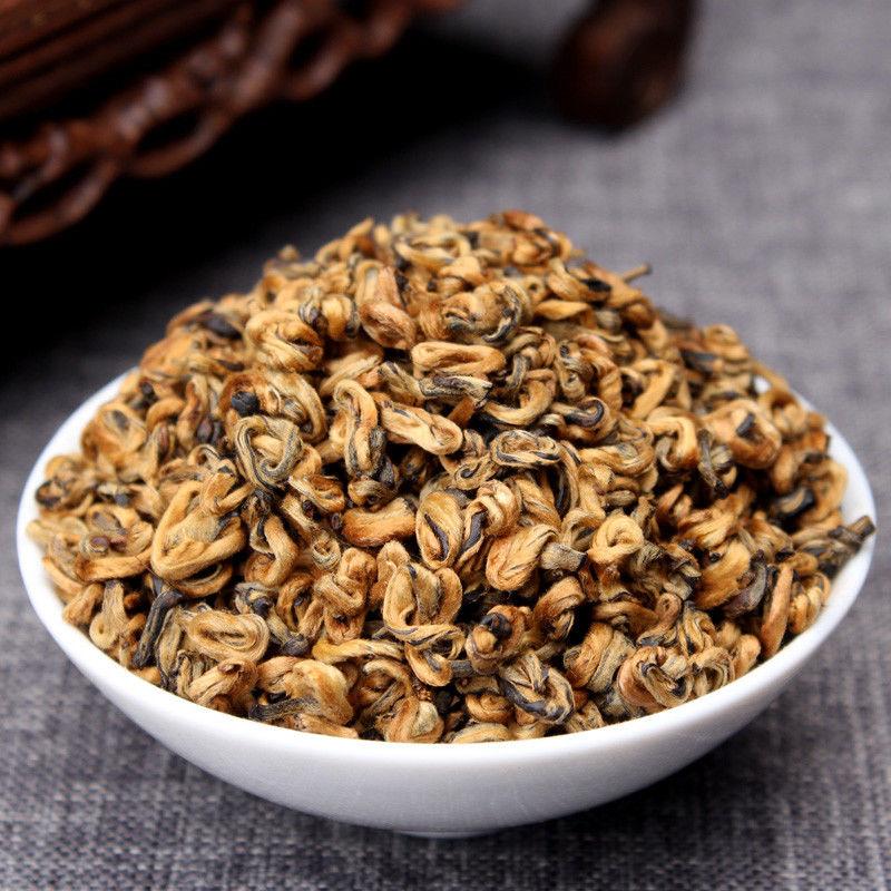 2020 Nonpareil Supreme Organic Yunnan FengQing Golden Bud Snail Dian Hong Black DIANHONG