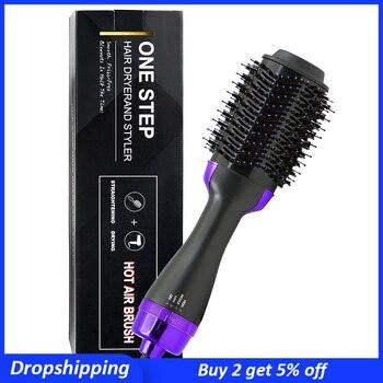 One Step Hair Dryer Brush and Volumizer Multifunctional Hair Straightener Comb Professional Salon Hot Air Brush Styler Curling
