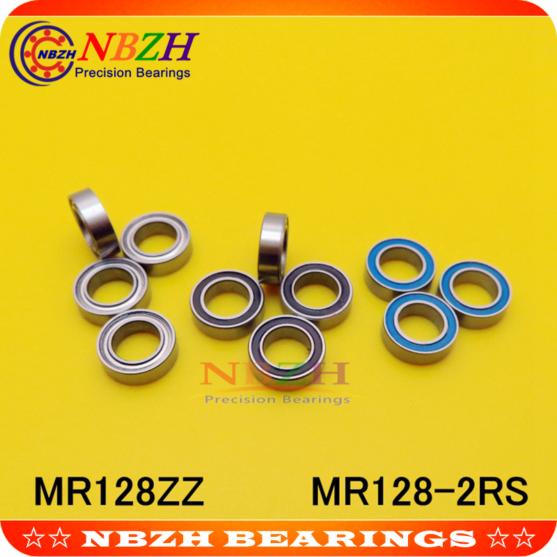 NBZH sale price Free Shipping <font><b>MR128ZZ</b></font> MR128-2RS SMR128ZZ SMR128-2RS 8X12X3.5mm Ball Bearings MR128 / L-1280 ZZ MR128RS MR128-2RS image