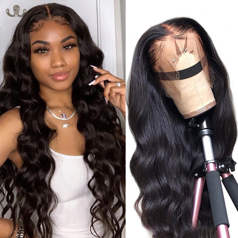 13x4 Lace Front Human Hair Wigs Brazilian Body Wave Lace Wig With Baby Hair Glueless Beaudiva Remy Human Hair Lace Front Wigs