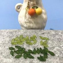 Joker japonês verde transparente pequenas folhas acrílico diy artesanal jóias brincos acessórios materiais
