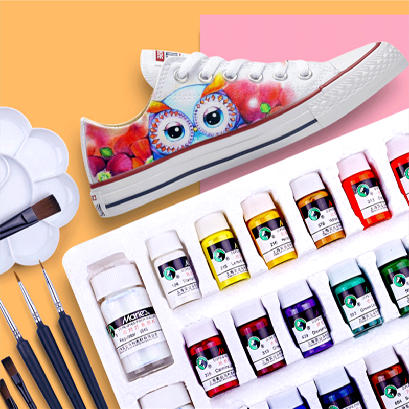Textile Fiber Pigment Acrylic Waterproof Diy Hand-painted Clothes Canvas Shoes Graffiti Shoes Material Dye