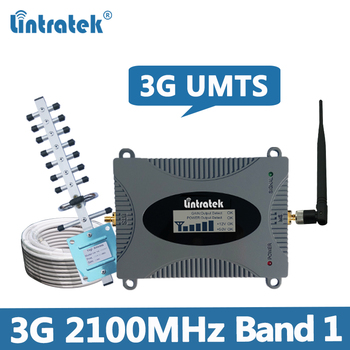 Lintratek Signal Booster 3G 2100Mhz Repeater UMTS WCDMA Band 1 Ampli 2100MHz Mobile Phone Amplifier for 3G voice and data KW16L