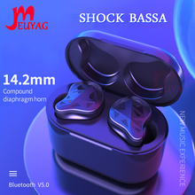 MEUYAG Stereo Wireless Bluetooth Earphone Mini In Ear Earphones with Charging Box Handfree