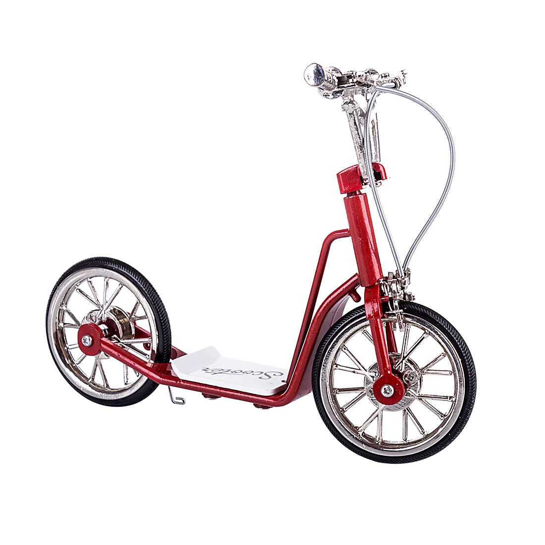 DIY Metal Handmade Scooter Model Crafts Decoration Home Decoration Accessories For Living Room Bedroom Decor - Red FS-0065