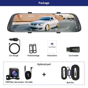 Image 5 - E ACE Car Dvr 2K Stream Media RearView Mirror Touch FHD 1080P Dual Lens Video Recorder Night Vision Auto Registrator Dashcam
