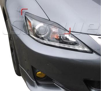 100% Belakang Serat Karbon Lampu Alis Kelopak Mata untuk Lexus Adalah IS250 IS300 IS350 Depan Headlamp Alis Trim Cover Aksesoris