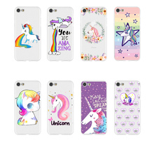Cute Unicorn Phone Case Coque For iPhone xr 7 8 6 6S Plus X XS MAX 5 5S Soft TPU Silicone Phone Cover For iPhone 8 7 Plus цена и фото