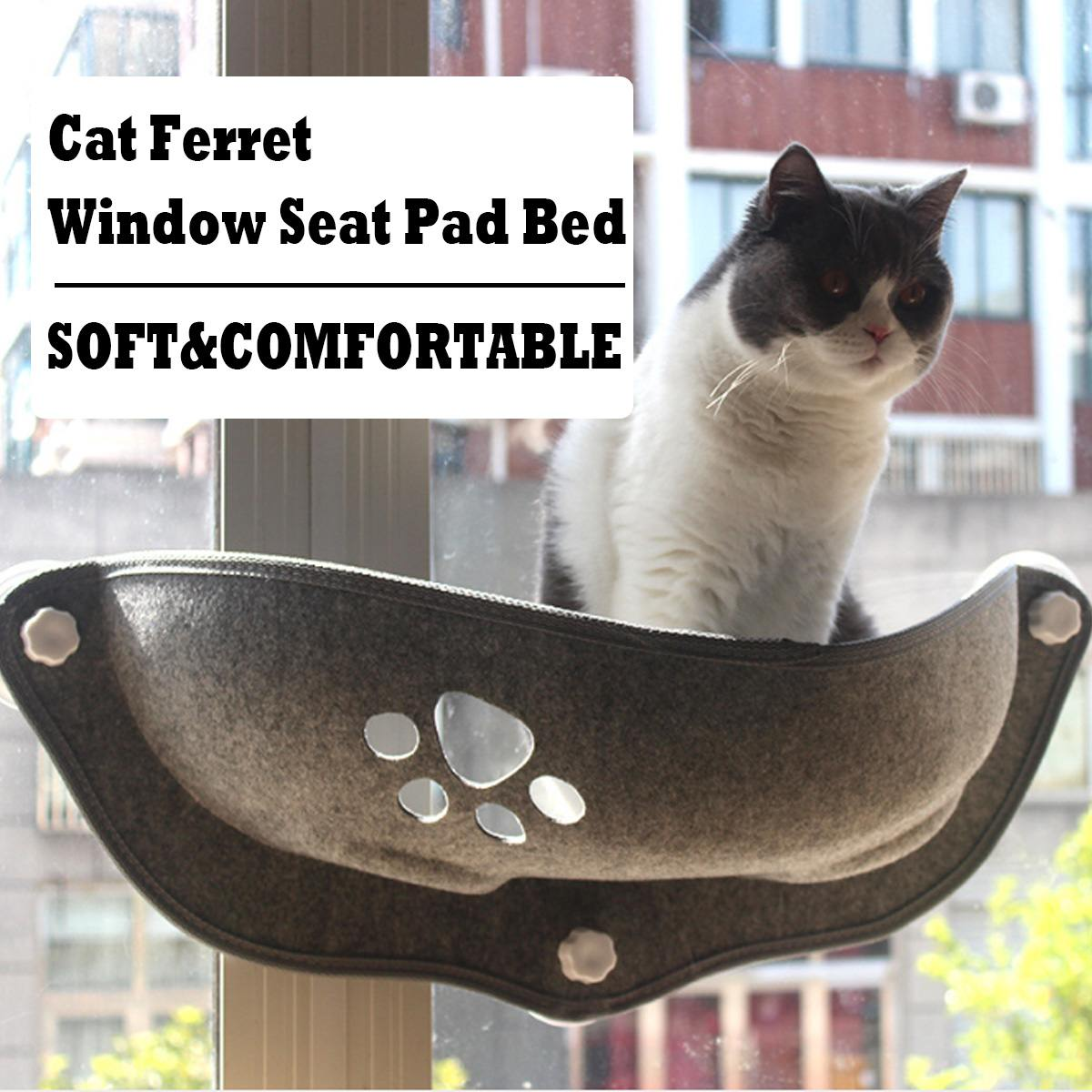 Hanging Cat Bed Mat Soft Cat Hammock Window Hammocks Kennels 15KG Cat Safe Hanging Shelf Seat Beds Cover Cushion