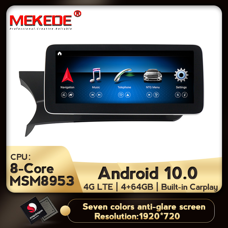 """10.25"""" IPS screen Android 10.0 4+64G Car Dvd Navi Player For Benz C-Class W204 2011 to 2014 NTG 4.5 Car multimedia player"""