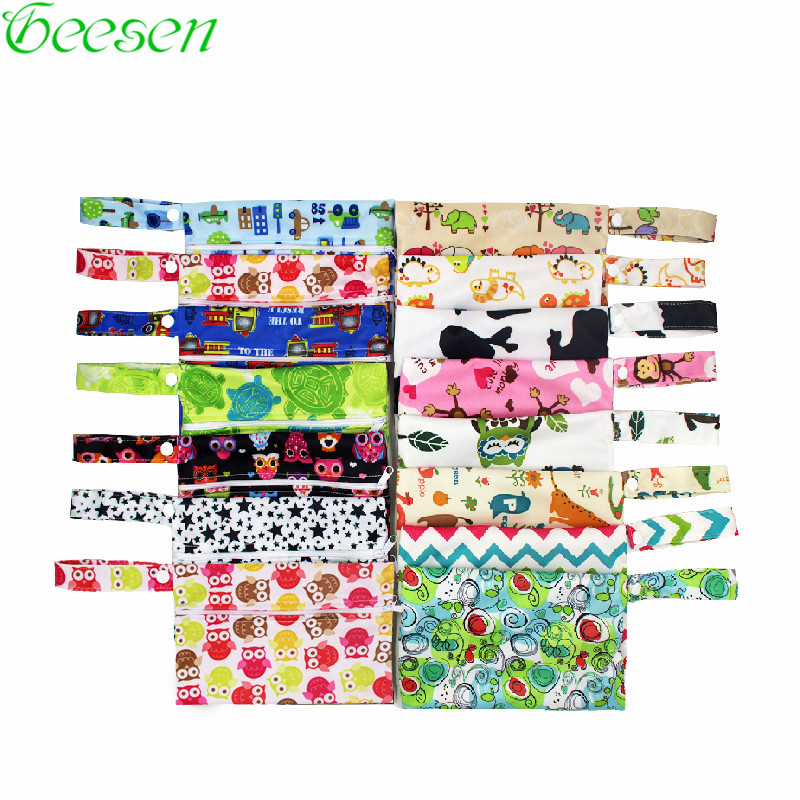 Washable Nursing Pads Wet Bags Nappy Bags Single Zippers Sanitary Pads Waterproof  Wet Dry Wetbag Bags 14x20cm Reusable Wet Bag
