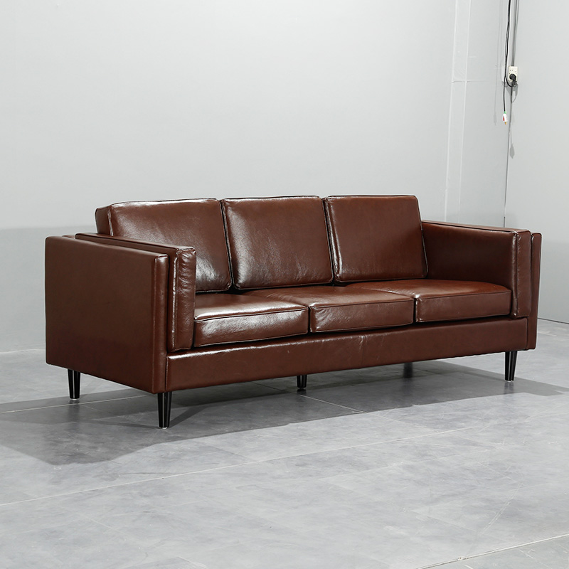 U-BEST lazy contemporary restaurant coach leather sleeper sectional sofa furniture modern office sofa set image