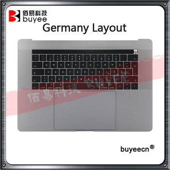"Original Palmrest TopCases para Macbook Pro Retina 15 ""A1707 teclado alemán touchbar Trackpad montaje de batería de plata gris"