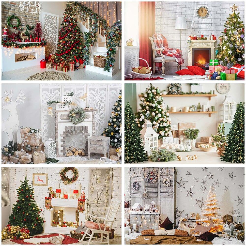 Купить рождественская елка лестница фон для фотосъемки деревянный пол