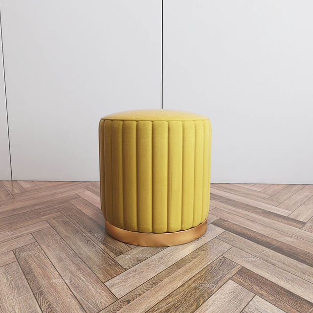 Luxury Fabric Stool