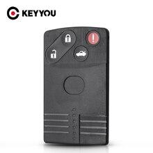 KEYYOU 4 przyciski dla Mazda 5 6 CX 7 CX 9 RX8 Miata MX5 2004 2005 2006 2007 2008 2009 wymiana kart inteligentnych obudowa pilota bez kluczyka