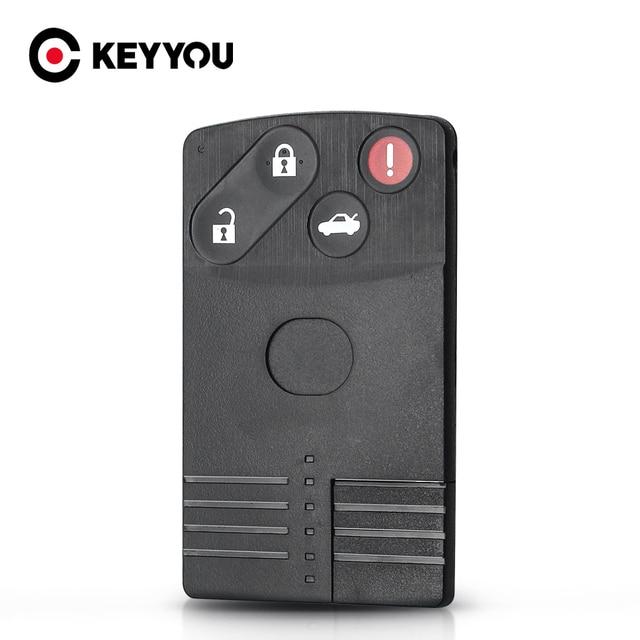 KEYYOU için 4 düğmeler Mazda 5 6 CX 7 CX 9 RX8 Miata MX5 2004 2005 2006 2007 2008 2009 yedek akıllı kart uzaktan anahtar kabuk
