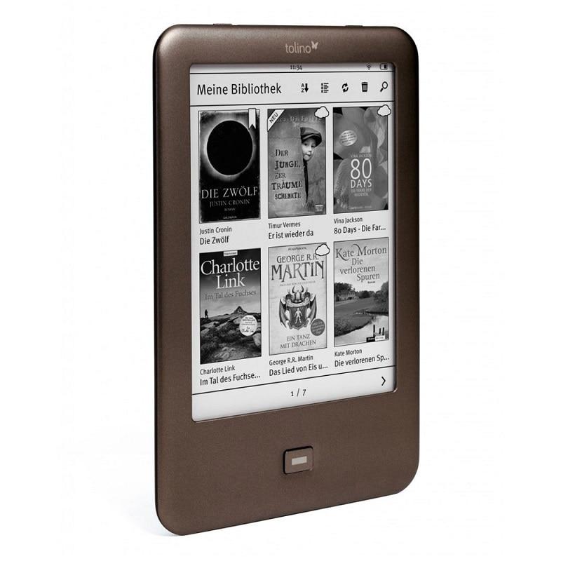 Leitor de e-book construído na luz wifi ebook tolino brilho e-ink 6 polegada tela de toque 1024x758 leitor de livro eletrônico