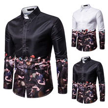 Mens shirts, long sleeve casual mens clothes, Street dresses men shirt