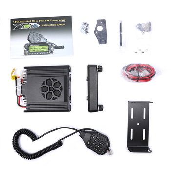 Zastone D9000 Car walkie talkie Radio Station 50W UHF/VHF 136-174/400-520MHz Two way radio Ham HF Transceiver 6