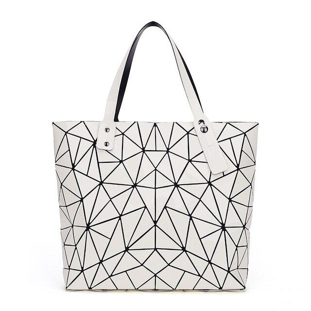WSYUTUO Handbag Female Folded Ladies Geometric Plaid Bag Fashion Casual Tote Women Handbag Shoulder Bag 2