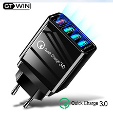 48W Quick Charge 3.0 4 Port USB Charger For Samsung A50 Xiaomi Mi9 iPhone 11 Pro X 7 6 Fast Wall EU UK Adapter