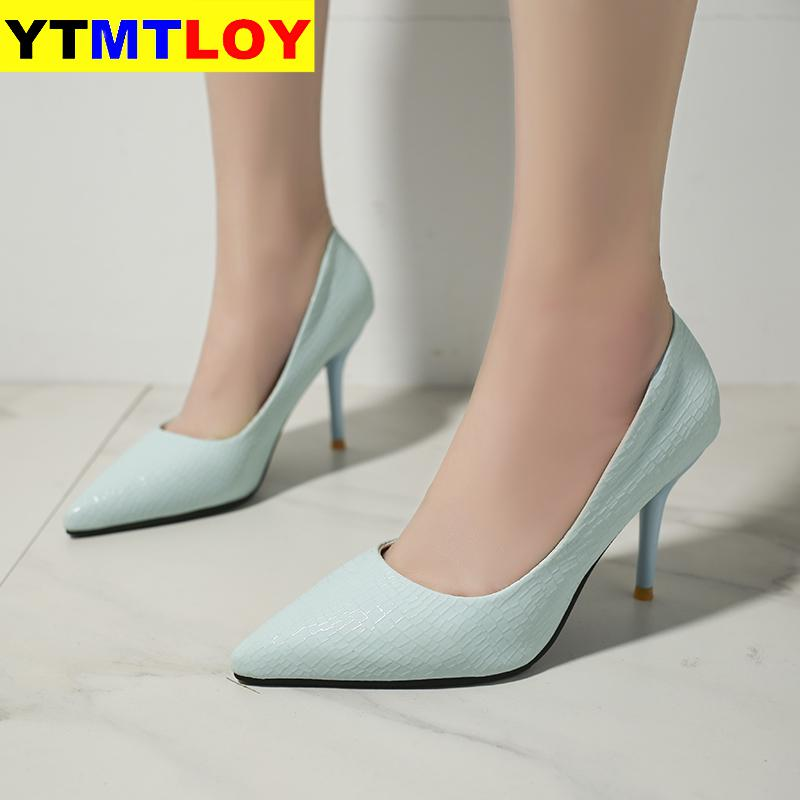 Shallow High Heels Shoes New Arrival Pointed Toe Fashion Women Pumps Sexy Womens Party Shoes Casual Summer Wedding  Pink Heels