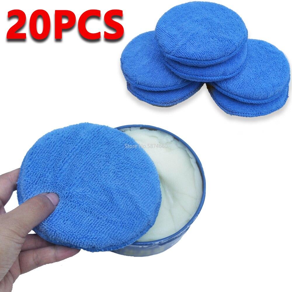 20 pièces microfibre cire applicateur tampon 5