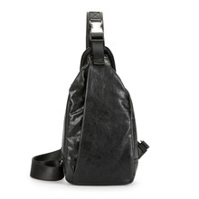 Retro chest bag fashion new Korean PU leather diagonal summer small tide