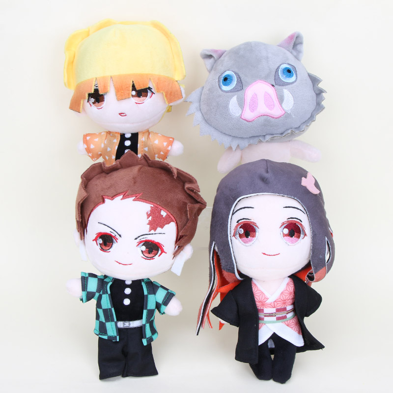 Kimetsu no Yaiba Agatsuma Zenitsu Plush Doll Key Chain Toy 12cm Demon Slayer