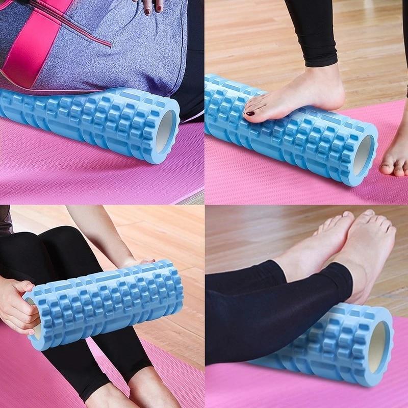Yoga Column Gym Fitness Foam Roller Pilates Yoga Exercise Back Muscle Massage