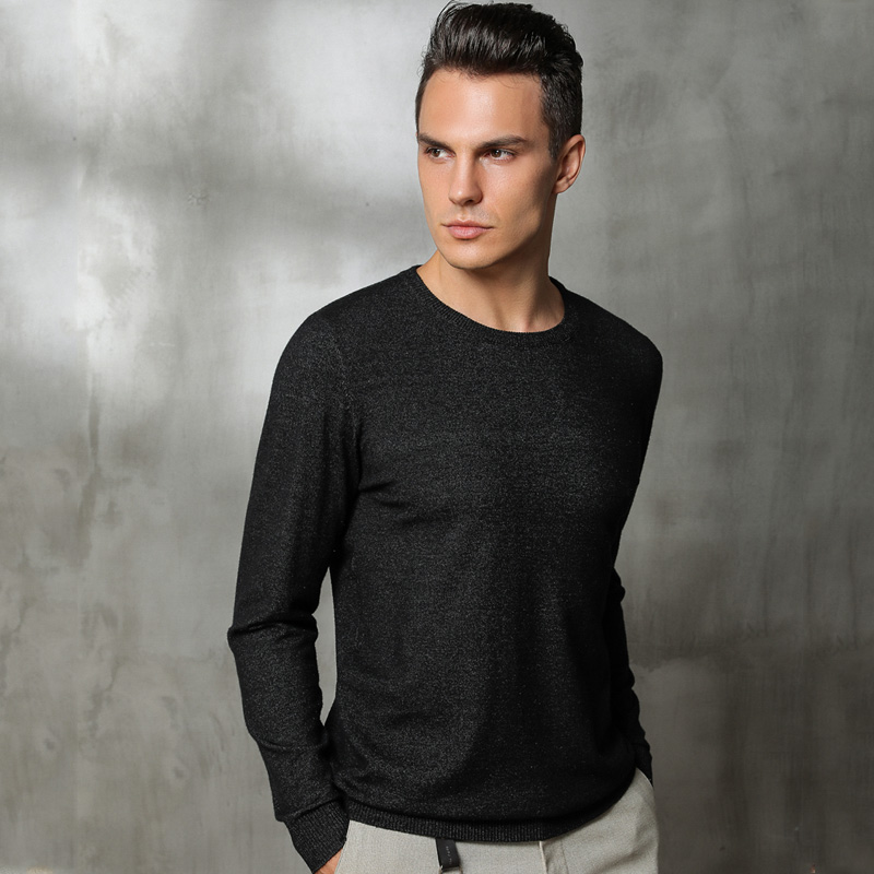 Sweater Men Knitted Warm Thin Fall Pullover Long Sleeves Solid Rabbit Cashmere Pullover Short Casual Jumper Knitwear