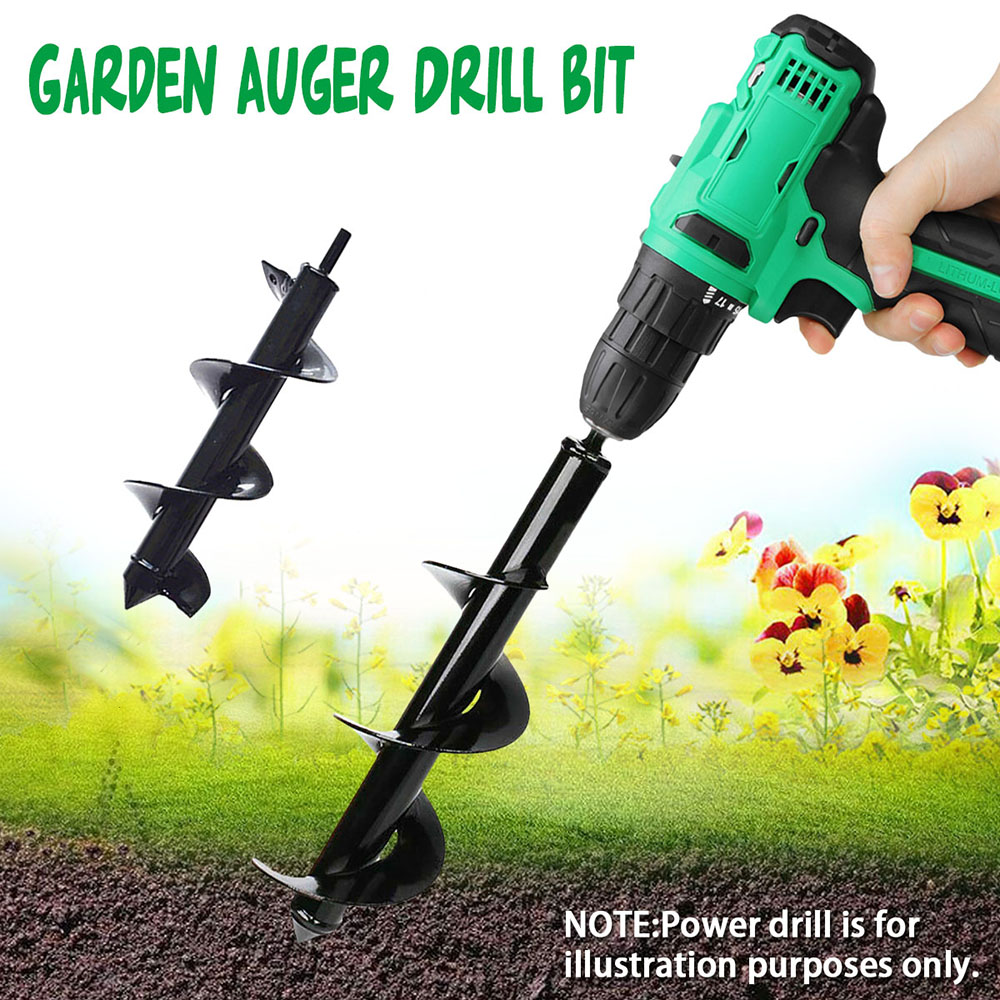 5 Size Planting Auger Spiral Digging Hole Drill Bit For Garden Earth Planter