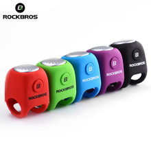 ROCKBROS חשמלי רכיבה על פעמון 110 dB צופר אטים לגשם MTB אופניים כידון סיליקה ג ל פגז טבעת אופני פעמון אופניים אבזרים