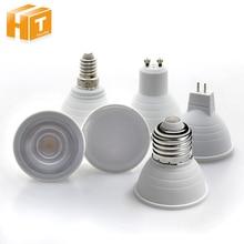Светодиодный точечный светильник E27 E14 GU10 GU5.3 MR16 Светодиодный точечный светильник 6W 220V светодиодный энергосберегающая лампа для дома светильник ing