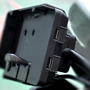 """Image 1 - טלפון נייד ניווט סוגר עבור BMW R1200GS עו""""ד F700 800GS CRF1000L אפריקה Twin עבור הונדה אופנוע USB טעינה 12MM moun"""
