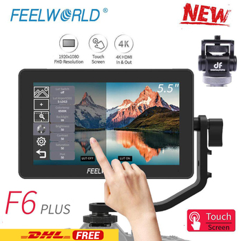 FEELWORLD F6 PLUS 5.5 Inch op Camera DSLR Field Monitor 3D LUT Touch Screen IPS FHD 1920x1080 Video focus Assist Ondersteuning 4