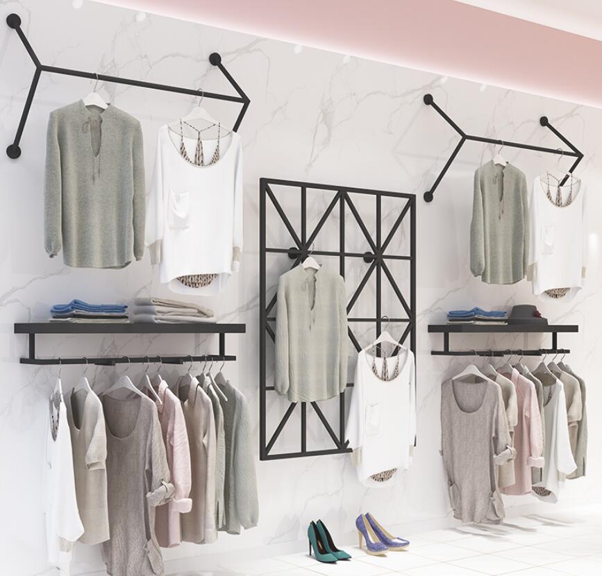 Вешалка для Витрины Магазина Одежды настенная вешалка для одежды мужская и женская мода магазин железная Полка вешалка для одежды - 5