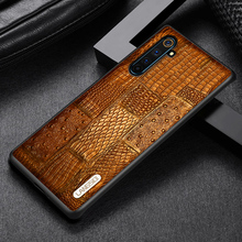 LANGSIDI Luxury Phone case For Realme 6 pro X2 Pro Shockproof back cover OPPO Reno 3 Ace R17 A9 A5 2020 Genuine leather
