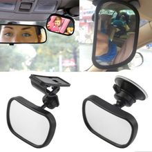 2 in 1 Mini Car Safety Back Seat Rearview Adjustable Mirror Rear Ward Child Infant Baby Kids Monitor Interior Mirrors