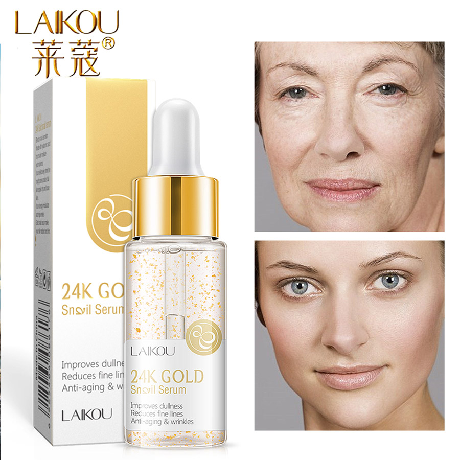 LAIKOU Serum 24K Gold Essence Anti-AgingHydration Hyaluronic Acid Pure Whitening The Ordinary Skin Care Face Serum