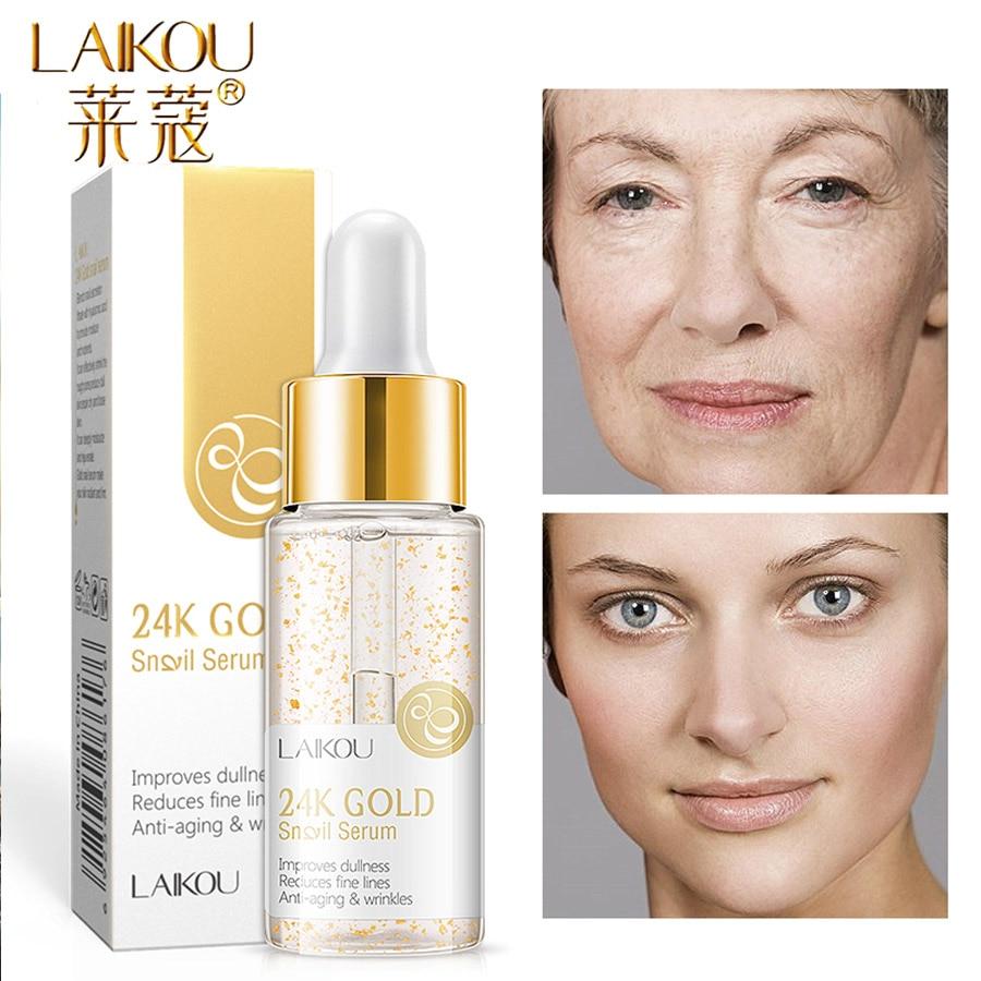 Laikou Serum 24k Gold Essence Anti Aginghydration Hyaluronic Acid Pure Whitening The Ordinary Skin Care Face Serum Serum Aliexpress